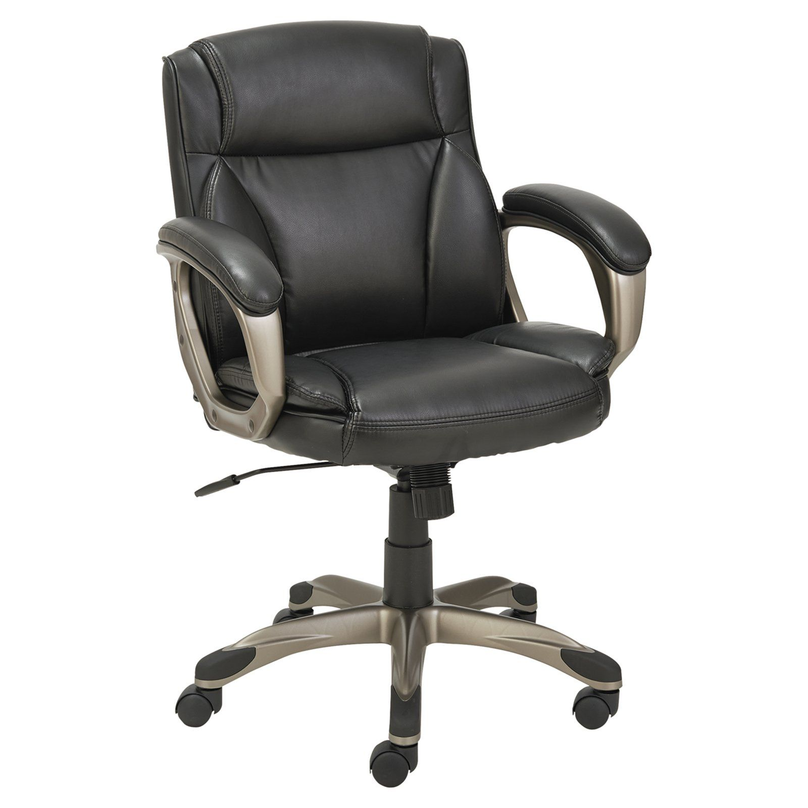 Alera Veon Series Low Back Leather Task Chair With Coil Spring