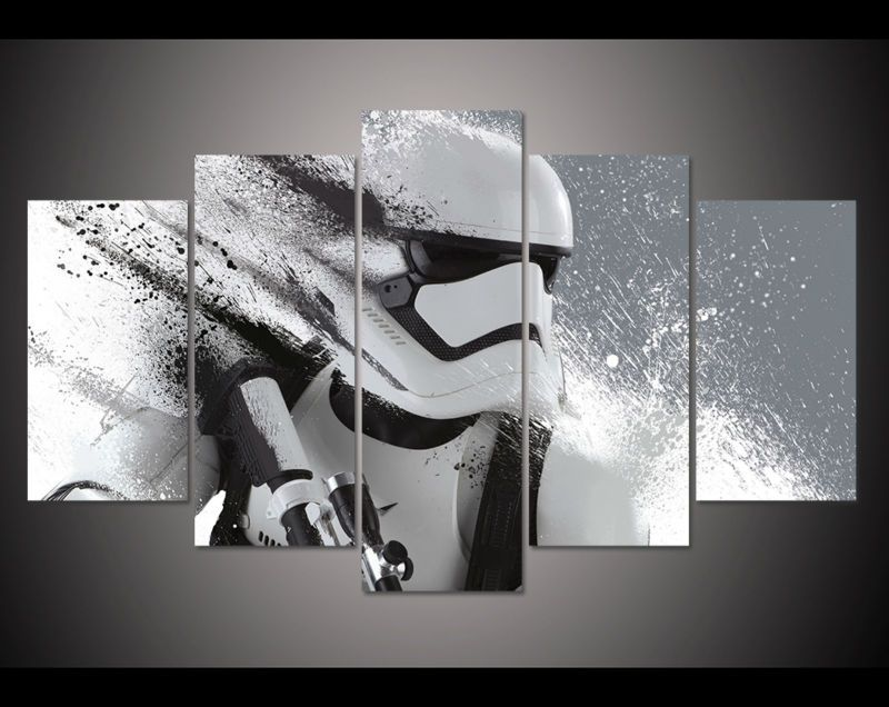 cheap imprimir stormtrooper de star wars movie poster pintura modern home decor wall art imagen. Black Bedroom Furniture Sets. Home Design Ideas