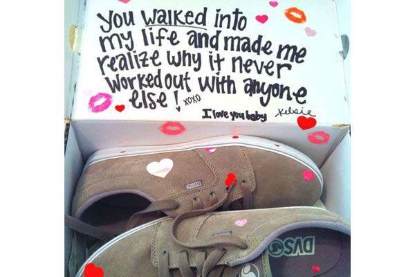 d4911d6d27a Shoes With Surprise Message - cute present for boyfriend