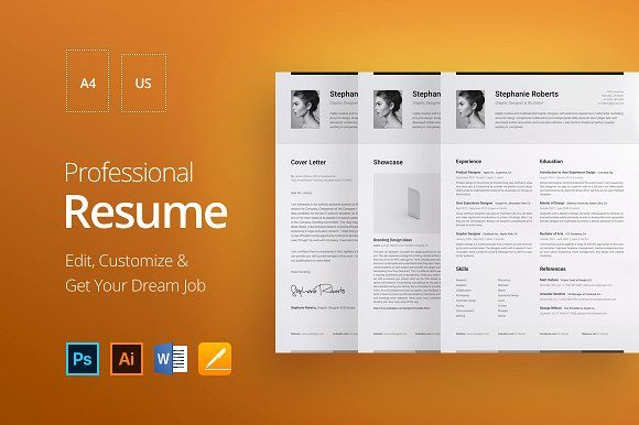 Professional Resume 1 HHG professional resume resume template cv - apple pages resume templates