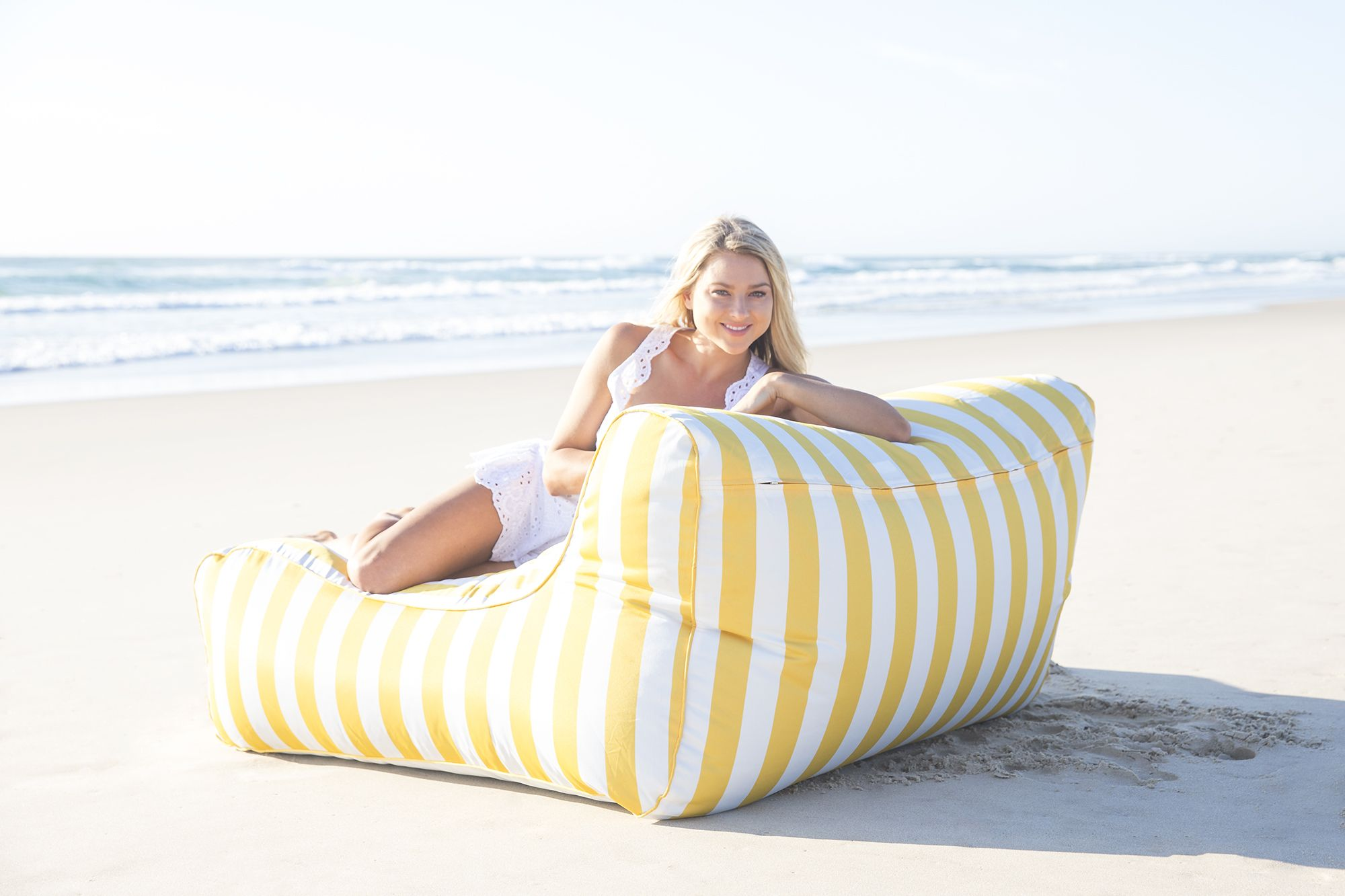 Sitzliege Outdoor Yellow Stripe Uv Lounger Dazzlingly Vibrant Add Some Sunshine
