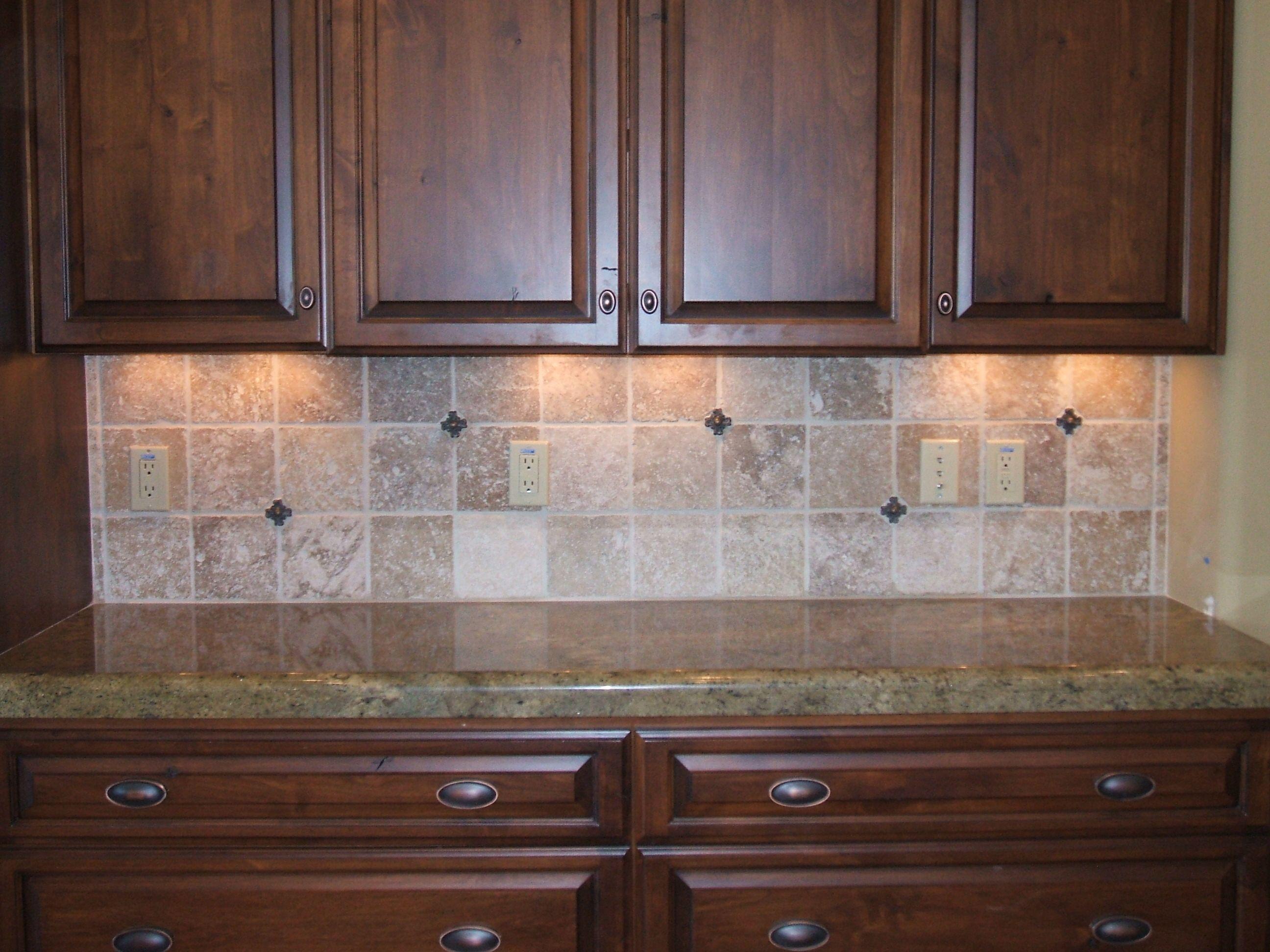 Tuscan kitchen design tile backsplash of window and - Kitchen tile design ideas backsplash ...