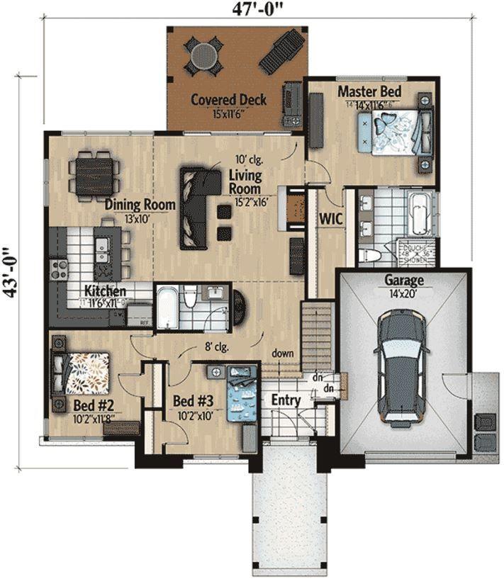 Plano de 130 metros cuadrados dream home planos de for Casa 2 plantas 160 metros cuadrados