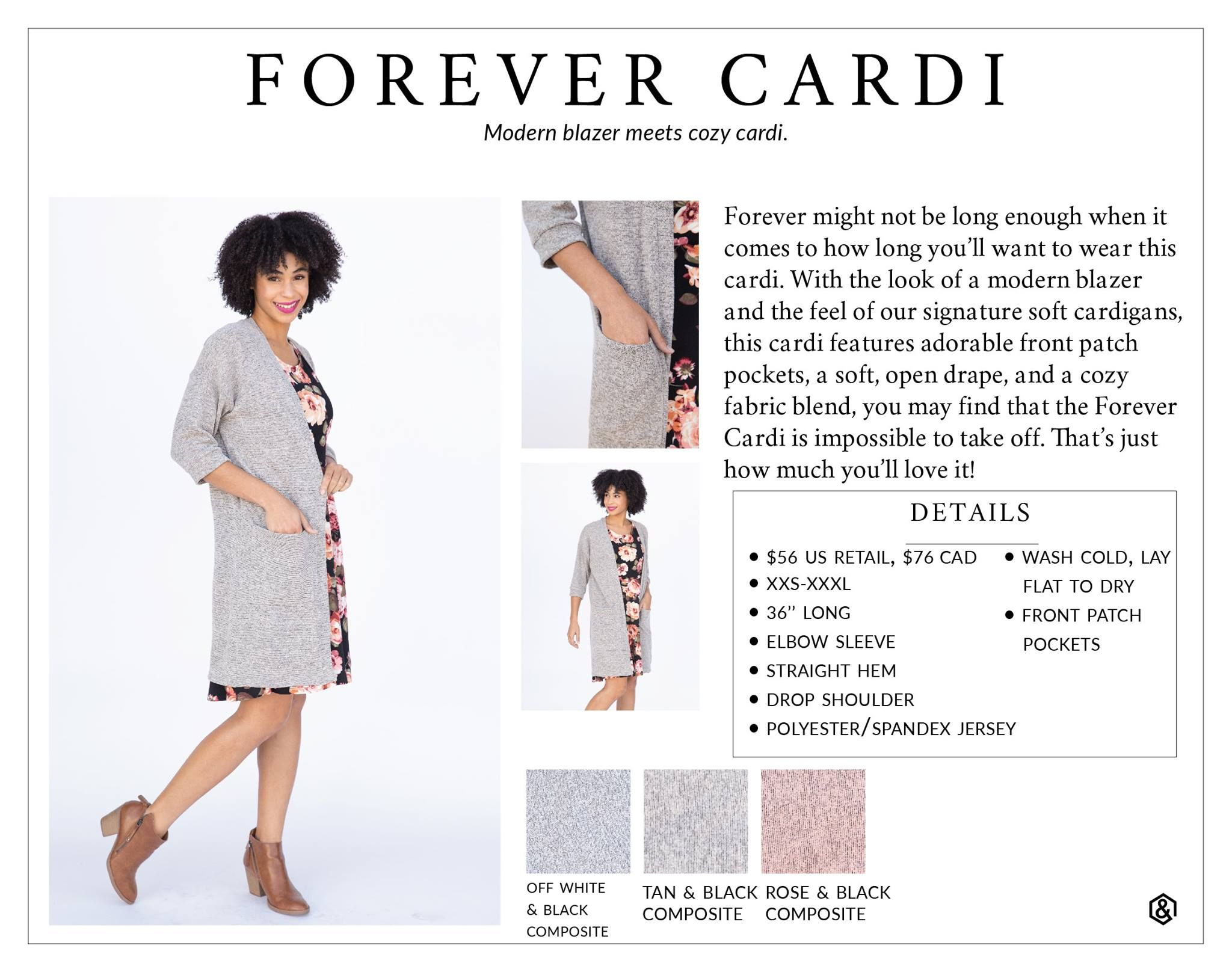 NWT Agnes /& Dora XXXL Favorite Cardi Black Retail $56