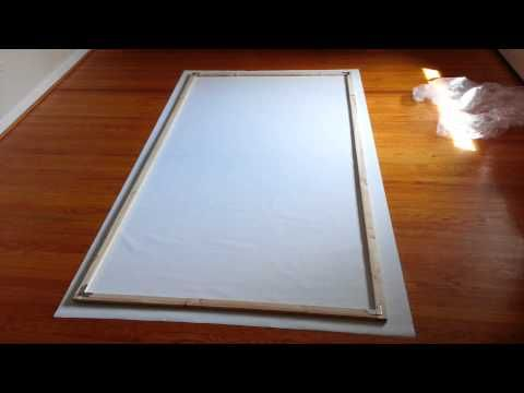 DIY Rear Projection Screen - Part 1 - Intro and Build - YouTube