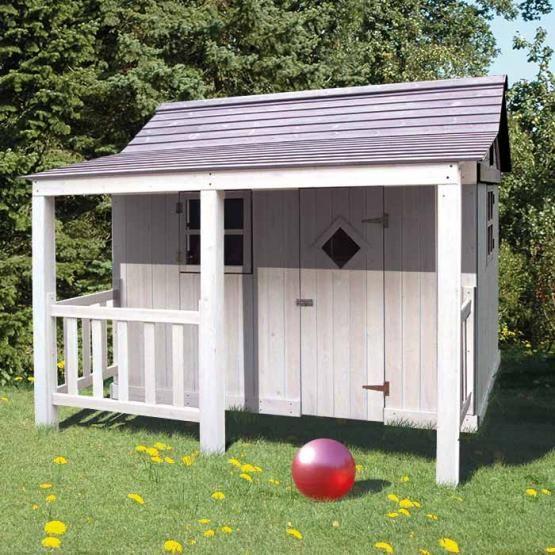 Spielhaus Ein Gelungen Uriges Kinderspielhaus Wie Aus Bullerby Bausatz Aus Hochwertiger Getrockneter Asiatischer Zeder Spielhaus Kinder Spielhaus Kinderhaus