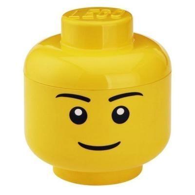 LEGO 40321724 Tête de rangement empilable Légo Garçon Grand modèle Plastique Jaune D24 x H27,1 ...
