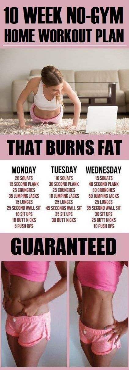10 Week No-Gym Home Workout Plan That Burns Fat Guaranteed -   8 fitness At Home losing weight ideas