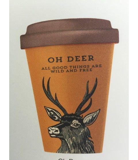 Bamboocup Coffee To Go Becher Oh Deer Kaffeebecher Bambus