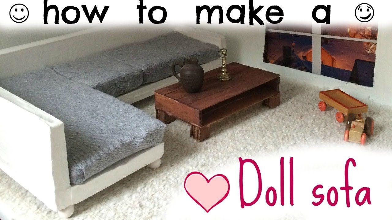 doll sofa - YouTube  Diy furniture sofa, Barbie furniture, Diy