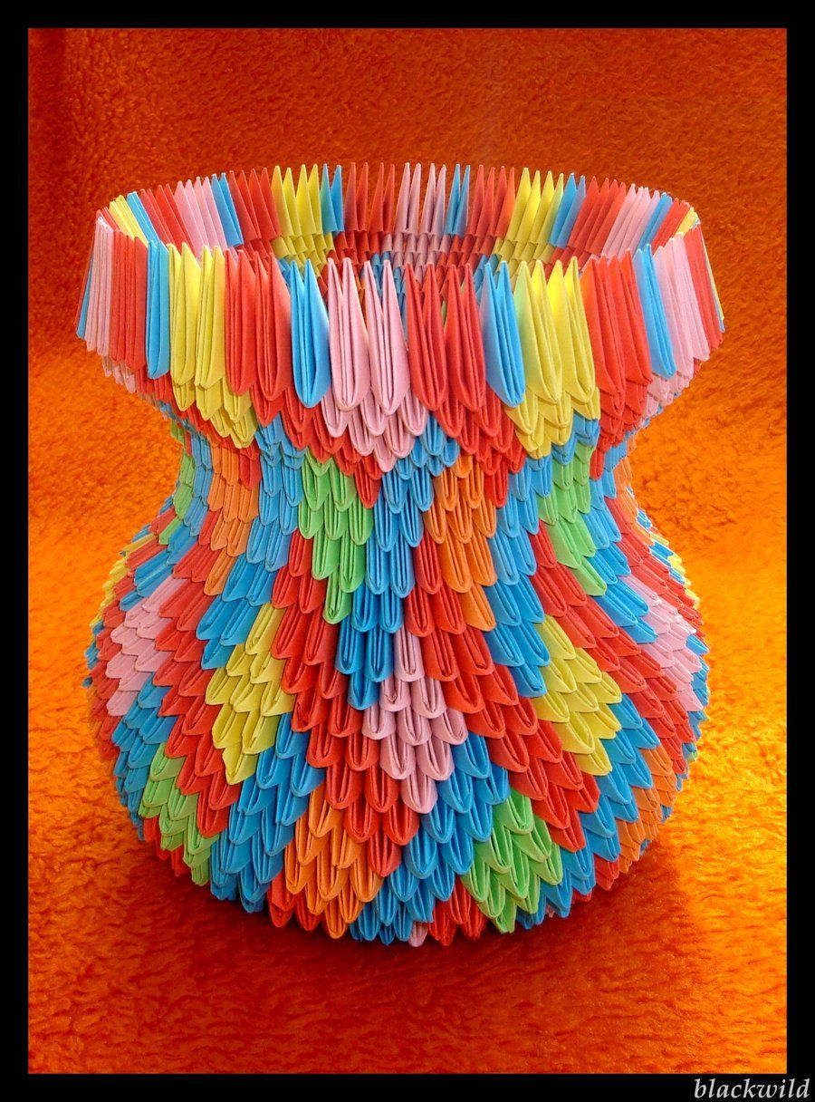 Origami Vase With Ear Ver Ii By Blackwild On Deviantart Creative Pinterest Origami