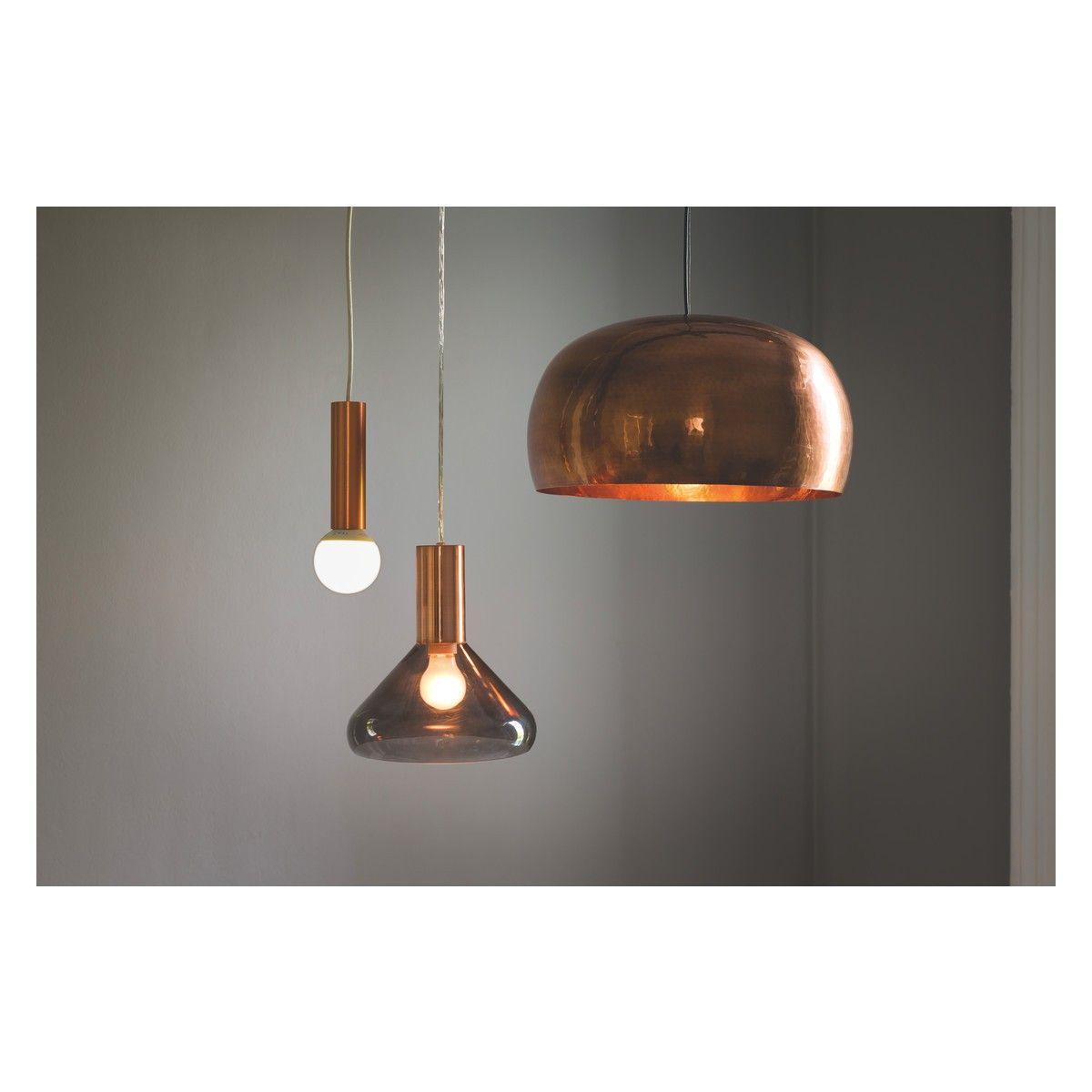 MARTEAU Large Copper Coated Brass Ceiling Light