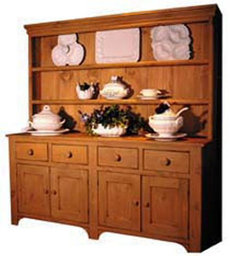 Superieur 6 Foot Country China Hutch 25 Paints Stains Distress Levels Antique  Reproduction