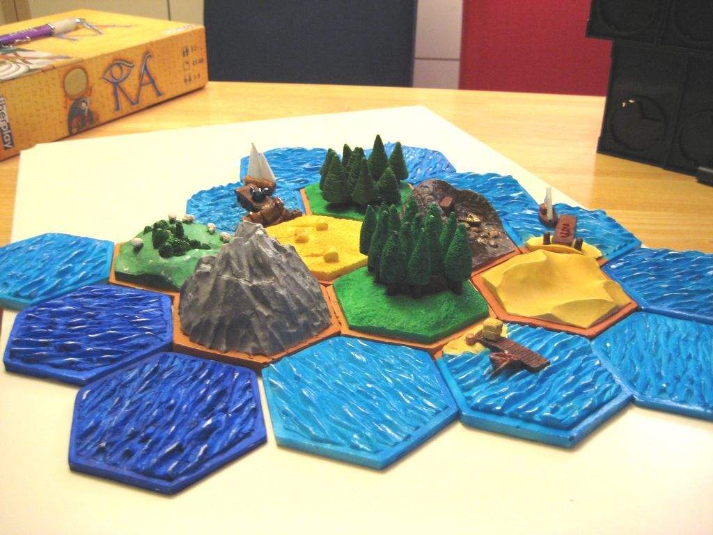 Constructing a 3D Settlers of Catan Board Settlers of