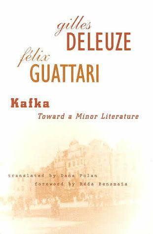 Kafka Toward A Minor Literature Google Search Literature History Of Literature Literary Criticism