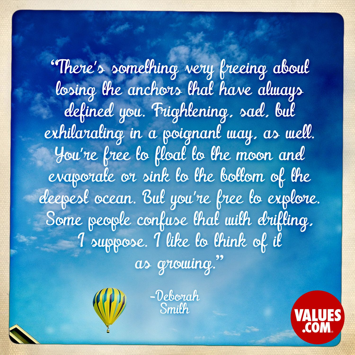 An inspirational quote by Deborah Smith from