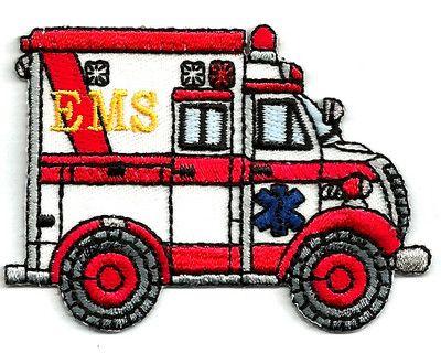 AMBULANCE embroidered iron-on PATCH RESCUE EMT PARAMEDIC EMBLEM applique CAR