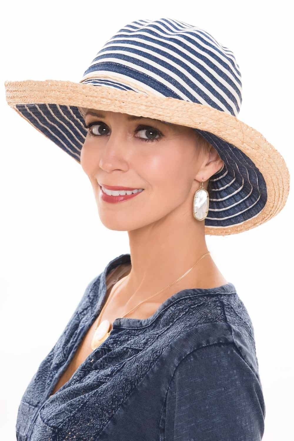 897abc4b492 Rivka Crushable Ribbon Braid Sun Hat. This travel friendly full head  coverage sun hat is super cute with denim accents.