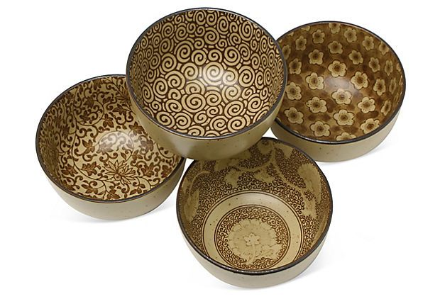 One Kings Lane - Soup's On! - S/4 Sepia Bowls.