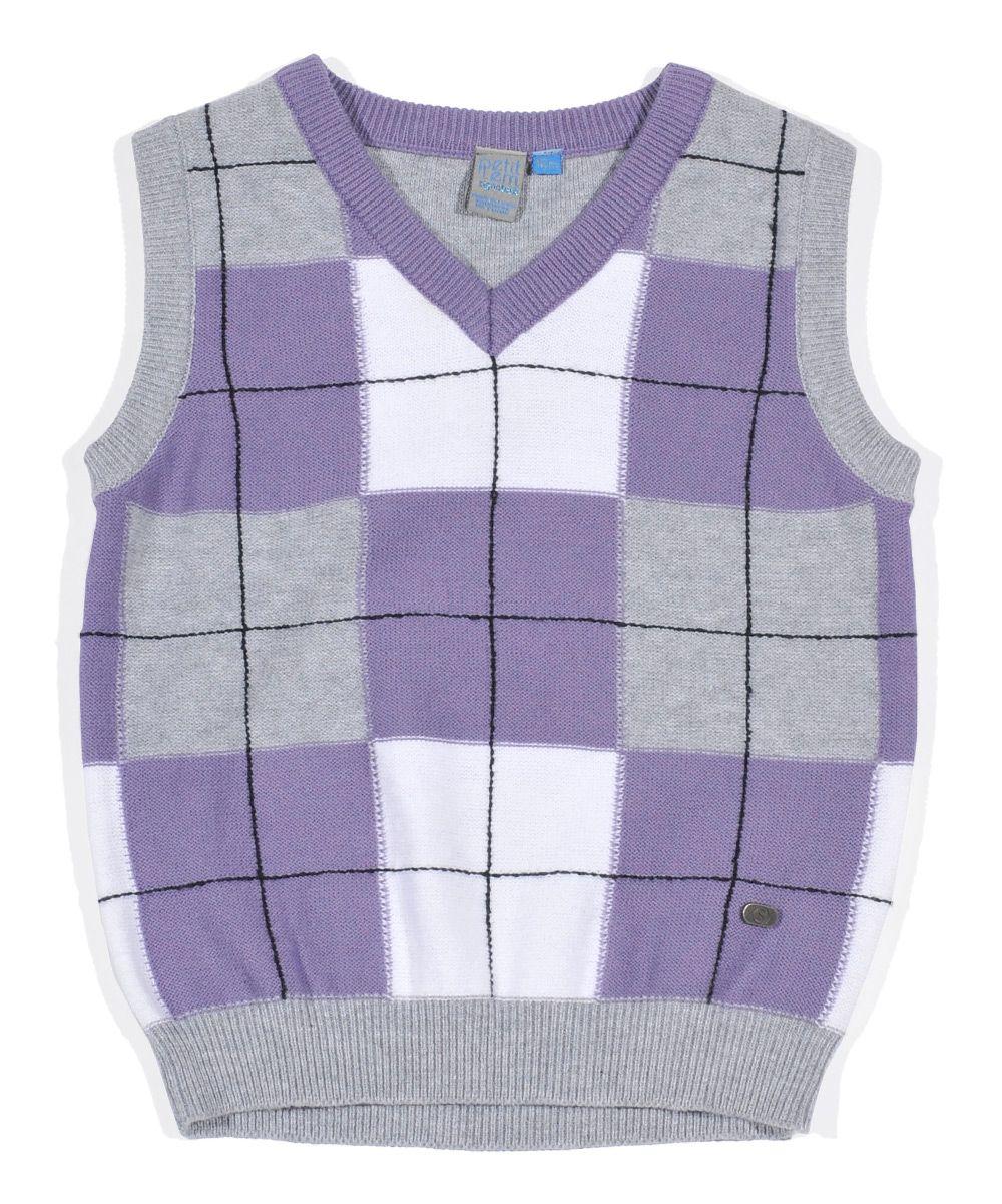 Purple Plaid Sweater Vest - Infant, Toddler & Boys | photos ...