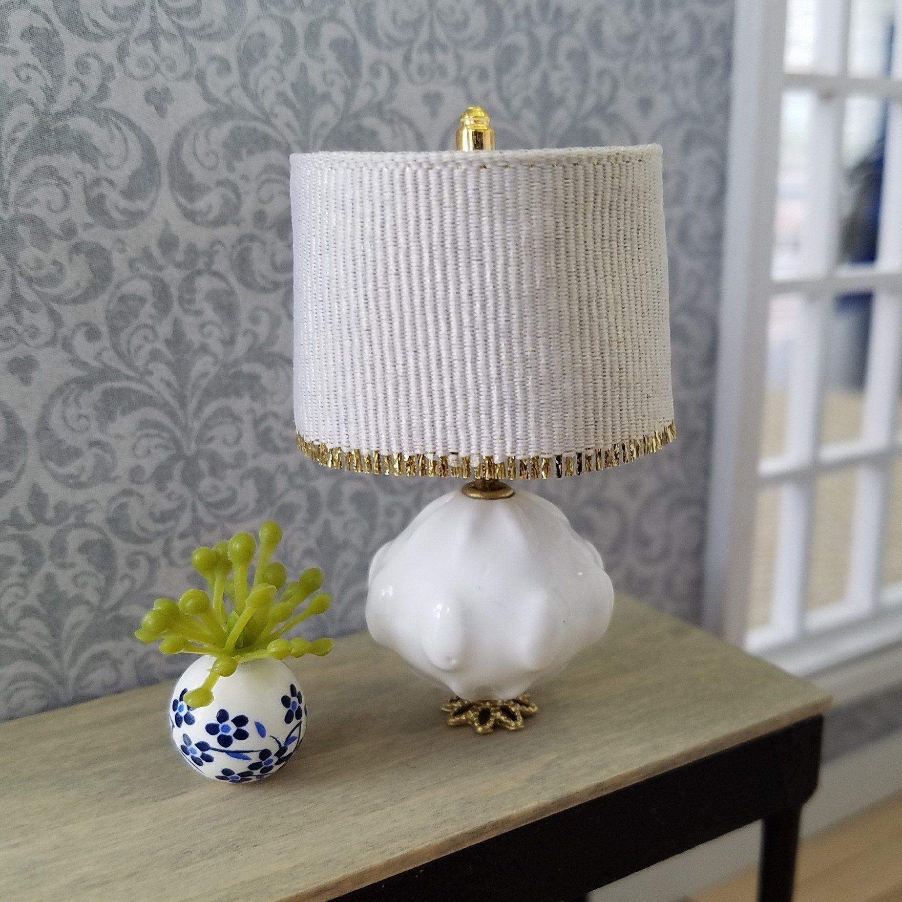 Miniature Lamp Dollhouse Lamp Table Lamp Home Decor White