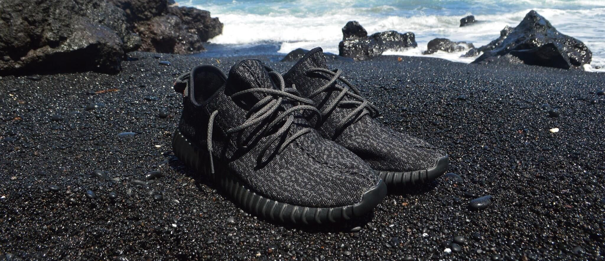 Yeezy 350 Boost Pirate Black [2048 x 883]. wallpaper
