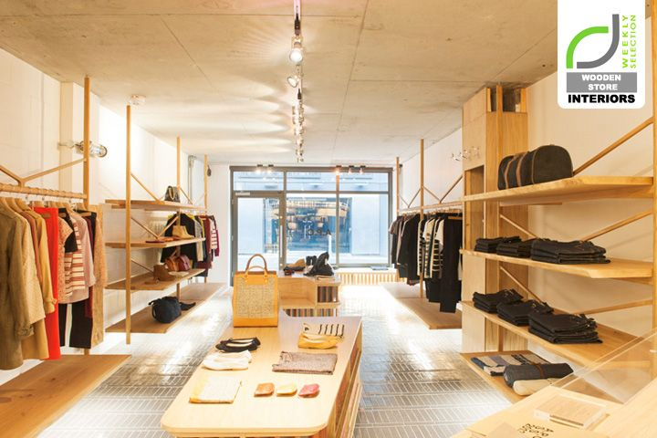 Wooden store interiors a p c store london store design for Retail interior design agency london