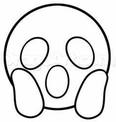 Emoticons Com Moldes Molde Emoji Paginas Para Colorir E Emoji
