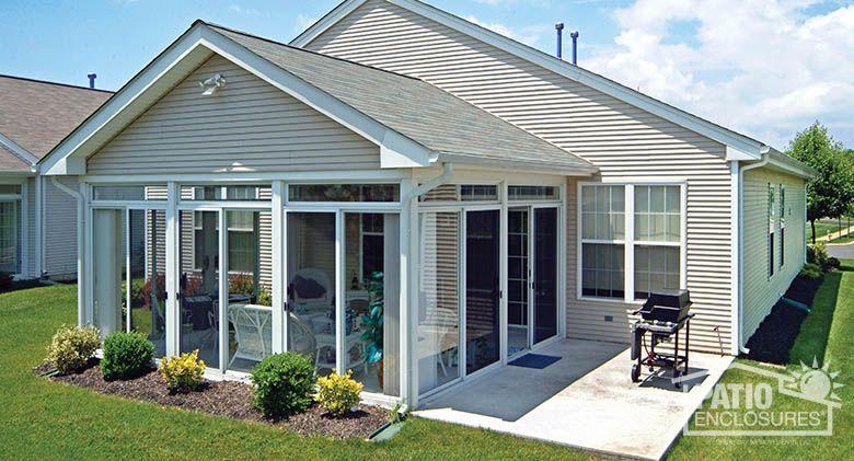 Good Three Season Sunroom With A White Aluminum Frame With Gable Roof. #sunroom  #homeimprovement