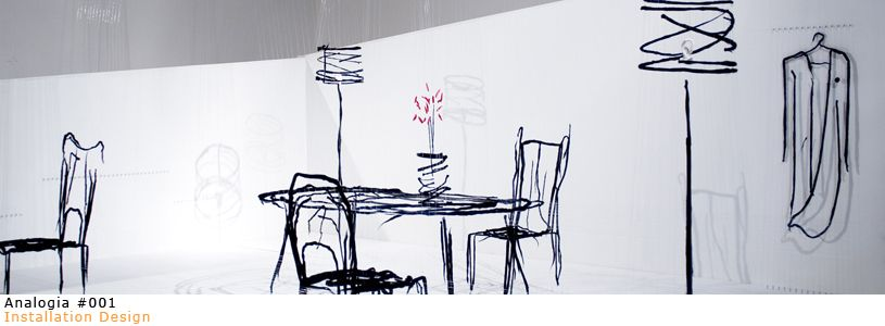 Analogia explores the materialisation of the imaginary, in its transient state of flux.  A drawing in the air that traces the fine line between abstract thought and concrete reality.  Andrea Mancuso & Emilia Serra