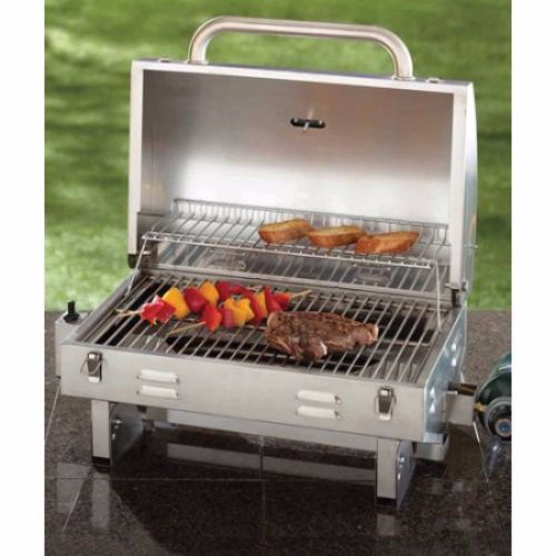 stainless steel outdoor tailgate portable bbq propane gas grill boating camping aussie. Black Bedroom Furniture Sets. Home Design Ideas