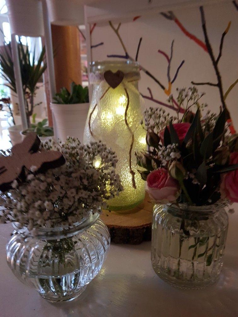 Tischdeko Mit Lichterkette Statt Mit Kerze Florania Events