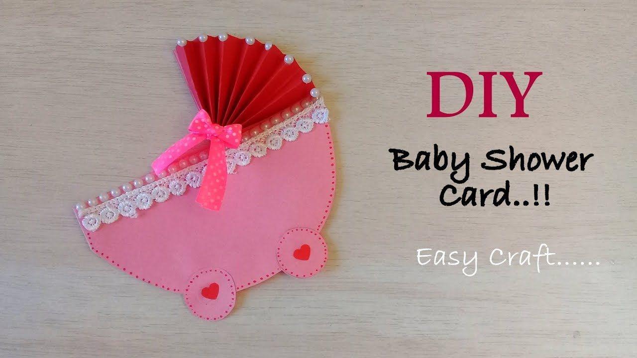 Diy Pretty Baby Shower Card Idea How To Make Card For Baby Shower B Baby Shower Cards Handmade Pretty Baby Shower Baby Shower Cards