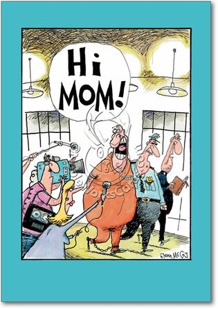 Hi Mom Mom Cards Funny Mothers Day Funny Mother