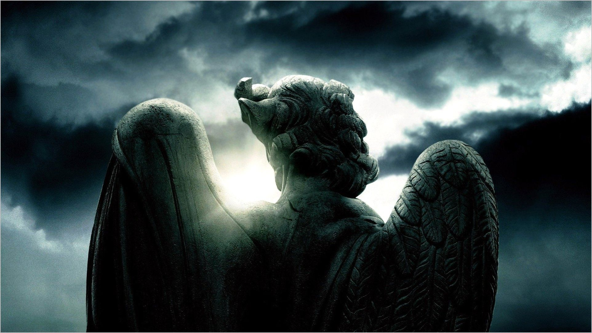 Anime Wallpaper 4k 1920 1080 Angel In 2020 Angel Clouds Angel Statues Heavenly Angels Art