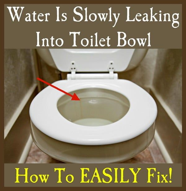 When You Have Water Slowly And Almost Silently Flowing Into Your Toilet Bowl You Could Have A Few Bad Parts In The Toil Leaking Toilet Toilet Bowl Toilet Tank