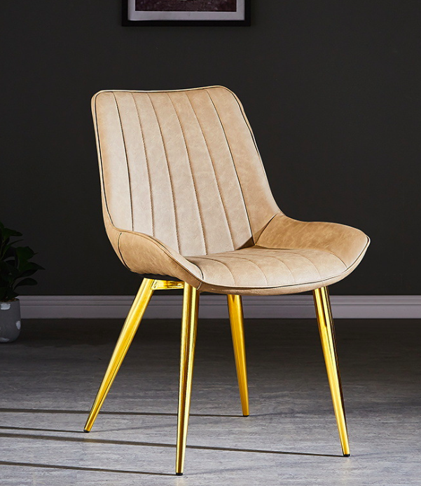 Vegan Leather Dining Chair Gold Leg Victor Verace Leather Dining Chairs Dining Chairs Feature Chair
