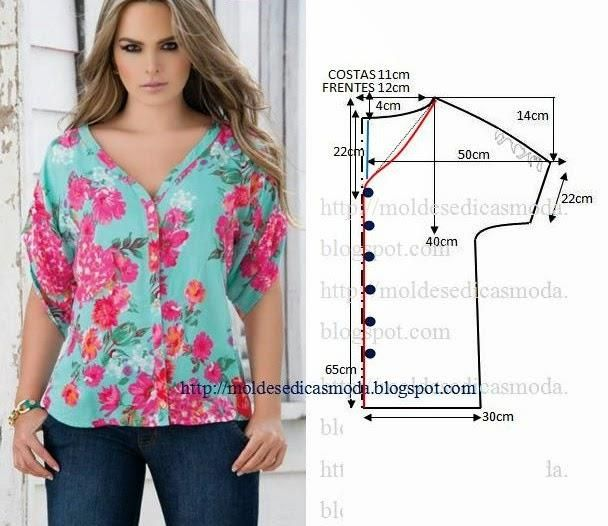 539a2dfdccd простая выкройка летней блузки