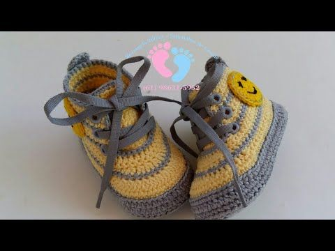TÊNIS HUGO - YouTube #crochetbabyboots