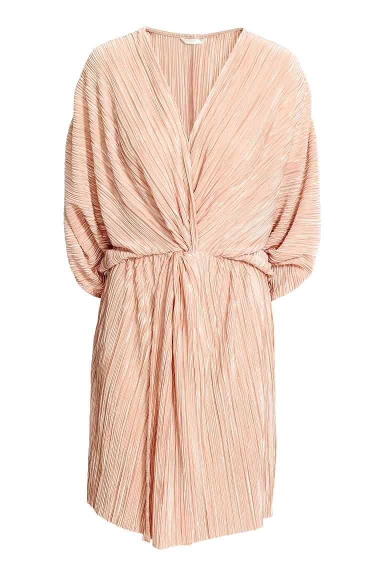 H&m pink pleated dress  Плиссированное платье  Pinterest