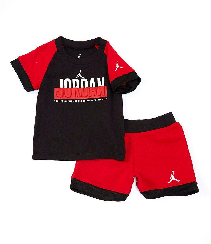 outlet store 16373 0309f Jordan Baby Boys 12-24 Months Baseline Colorblock Tee   Shorts Set    Dillard s