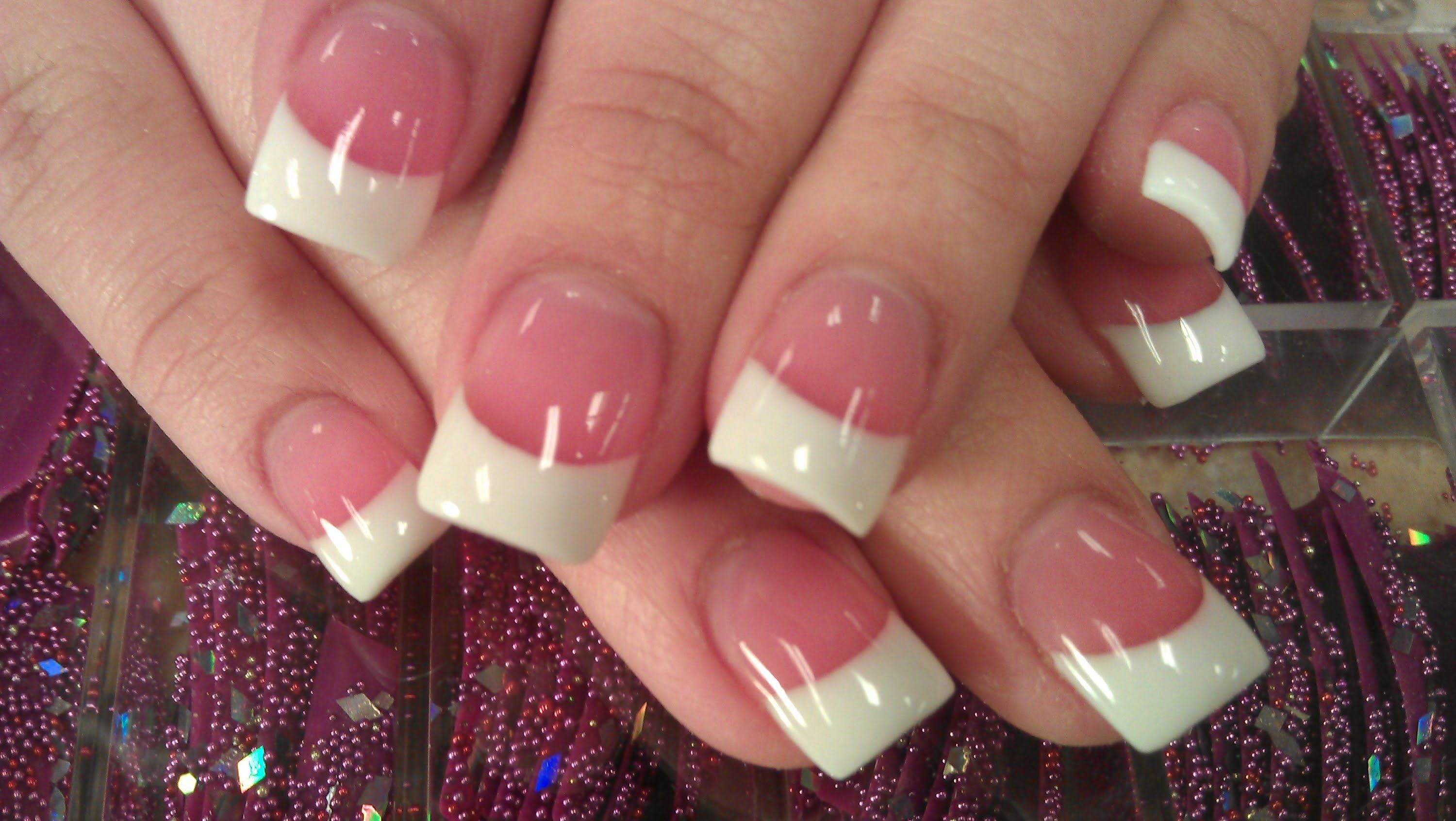 HOW TO PERFECT SOLAR PINK AND WHITE NAILS PART 3 final shine | Nails ...