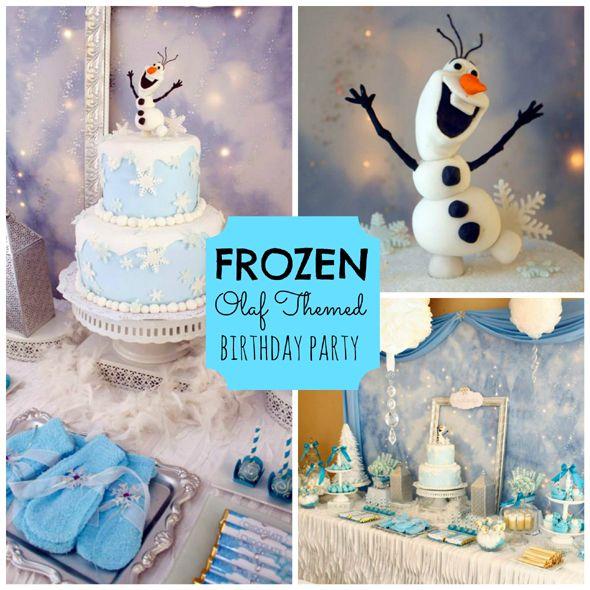 Frozen Olaf Themed Birthday Party  Olaf birthday party, Olaf