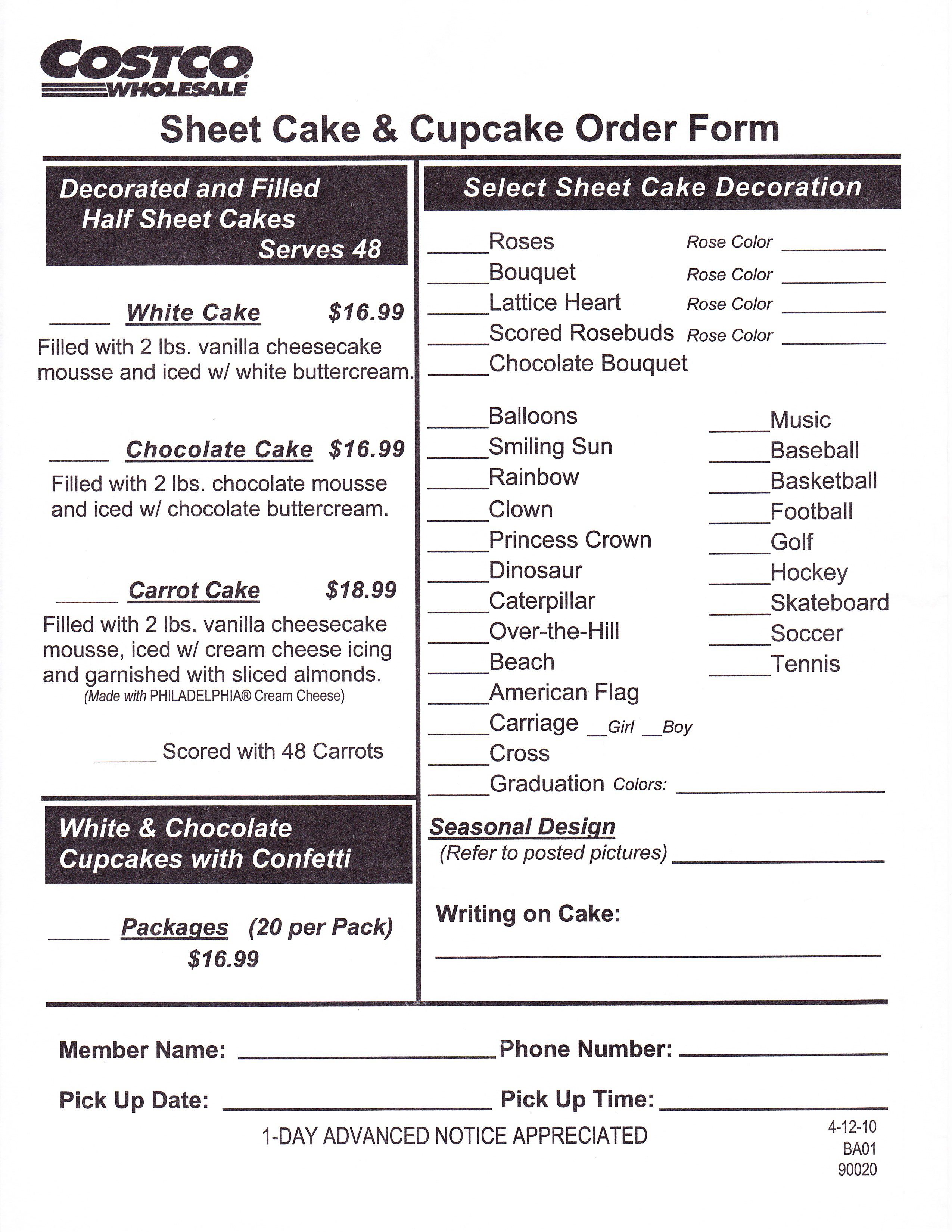 17 Best images about Cake Order Forms on Pinterest | Cake central ...