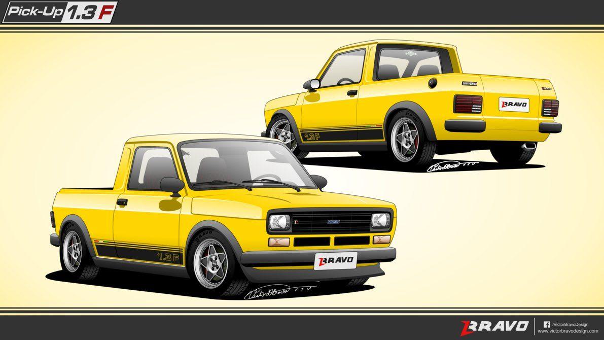 Fiat 147 Pickup 1 3 F By Victorbravodesign Con Imagenes