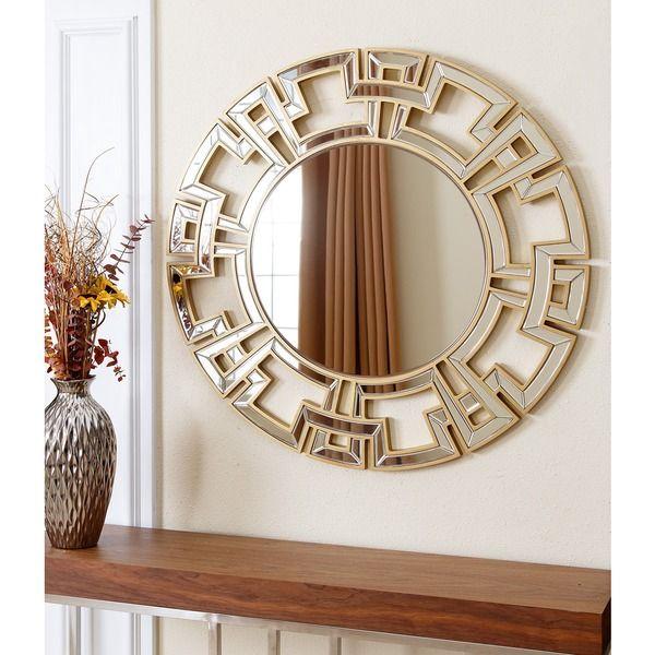 decorative gold mirrors. Abbyson Living Pierre Gold Round Wall Mirror  Walls