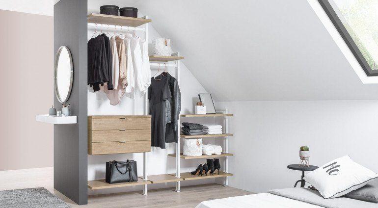 Begehbarer Kleiderschrank Fur Dachschrage Und Ankleidezimmer Regal Dachschrage Offener Kleiderschrank Dachschrage Kleiderschrank Fur Dachschrage