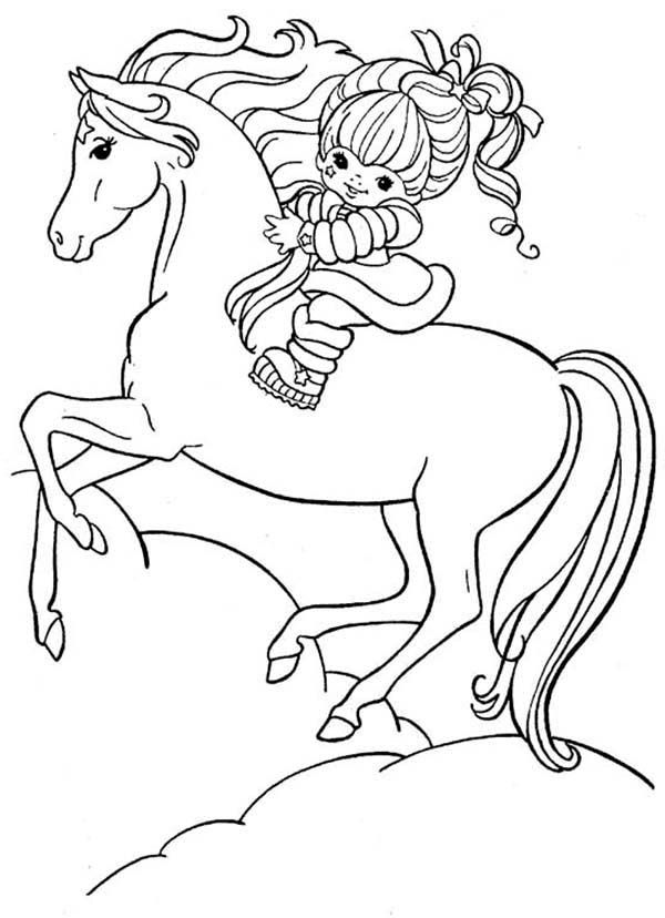 Rainbow Brite And Her Hosre Starlite Coloring Page Color Luna Horse Coloring Pages Cute Coloring Pages Cartoon Coloring Pages