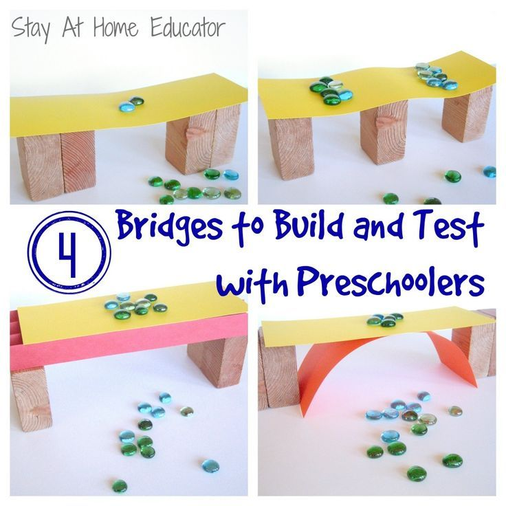 build and test in bridges theme in preschool science for kids