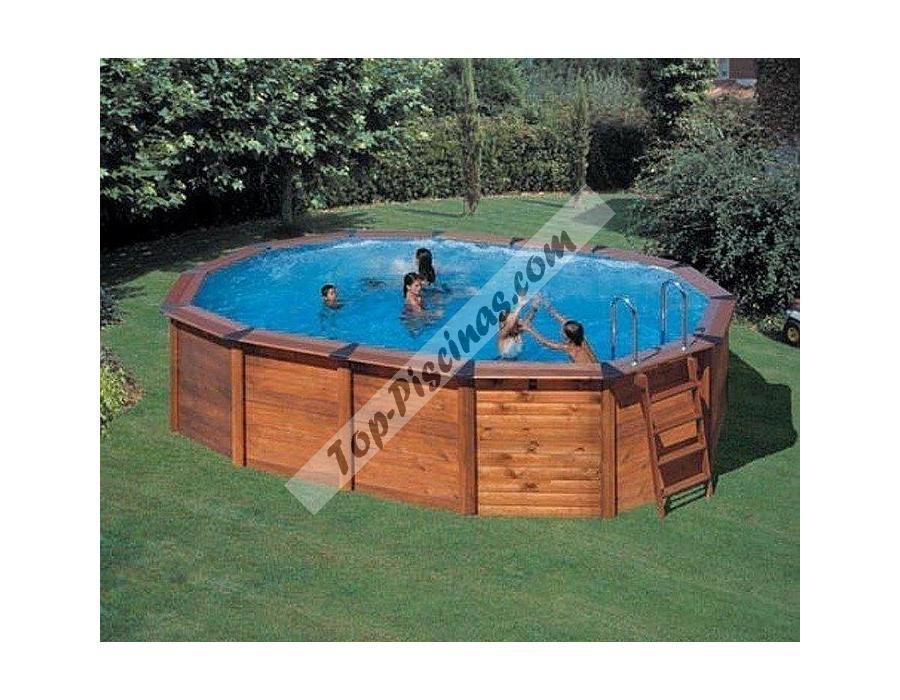 Hola amigos si te gustan las piscinas de madera esta es for Marcas de piscinas desmontables